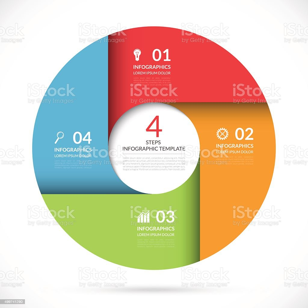 Vector circle template for business infographics vector art illustration