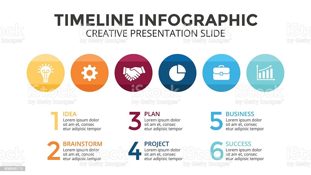 Vector circles timeline infographic, diagram chart, graph. Business concept with vector art illustration