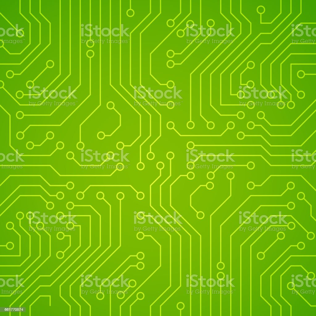 Vector circuit board or microchip. vector art illustration