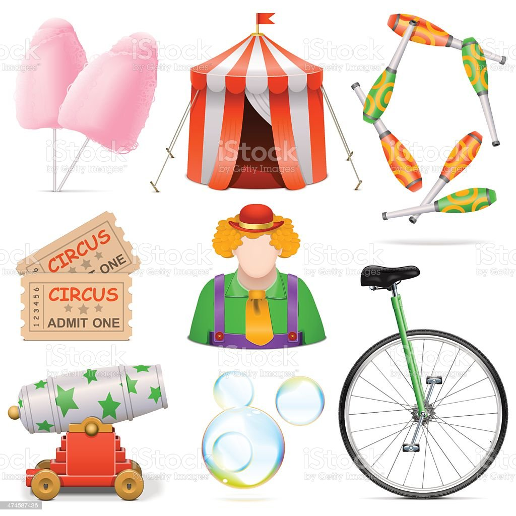 Vector Circus Icons vector art illustration