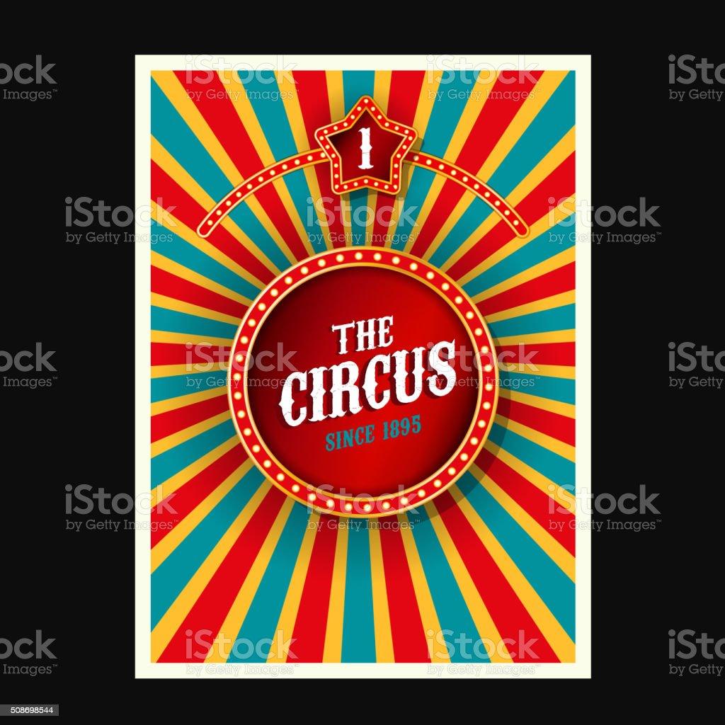 Vector Circus Poster vector art illustration