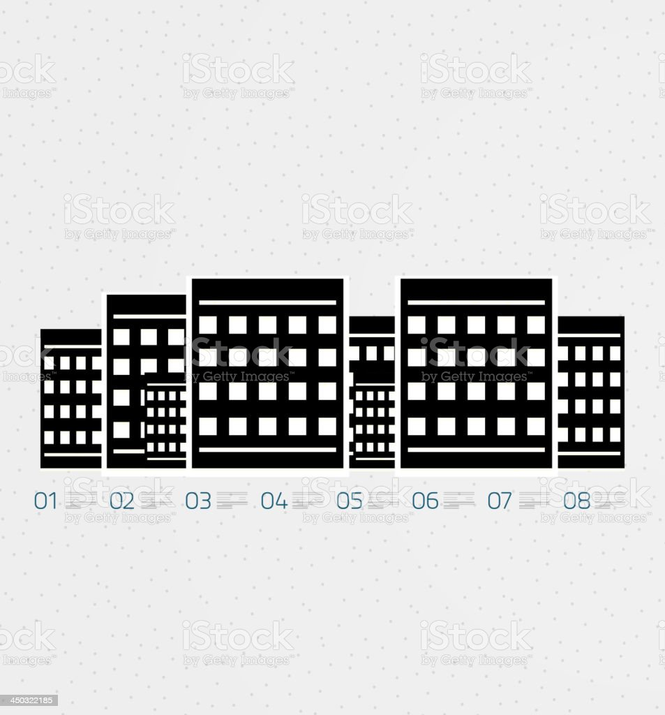 Vector city infographic design royalty-free stock vector art