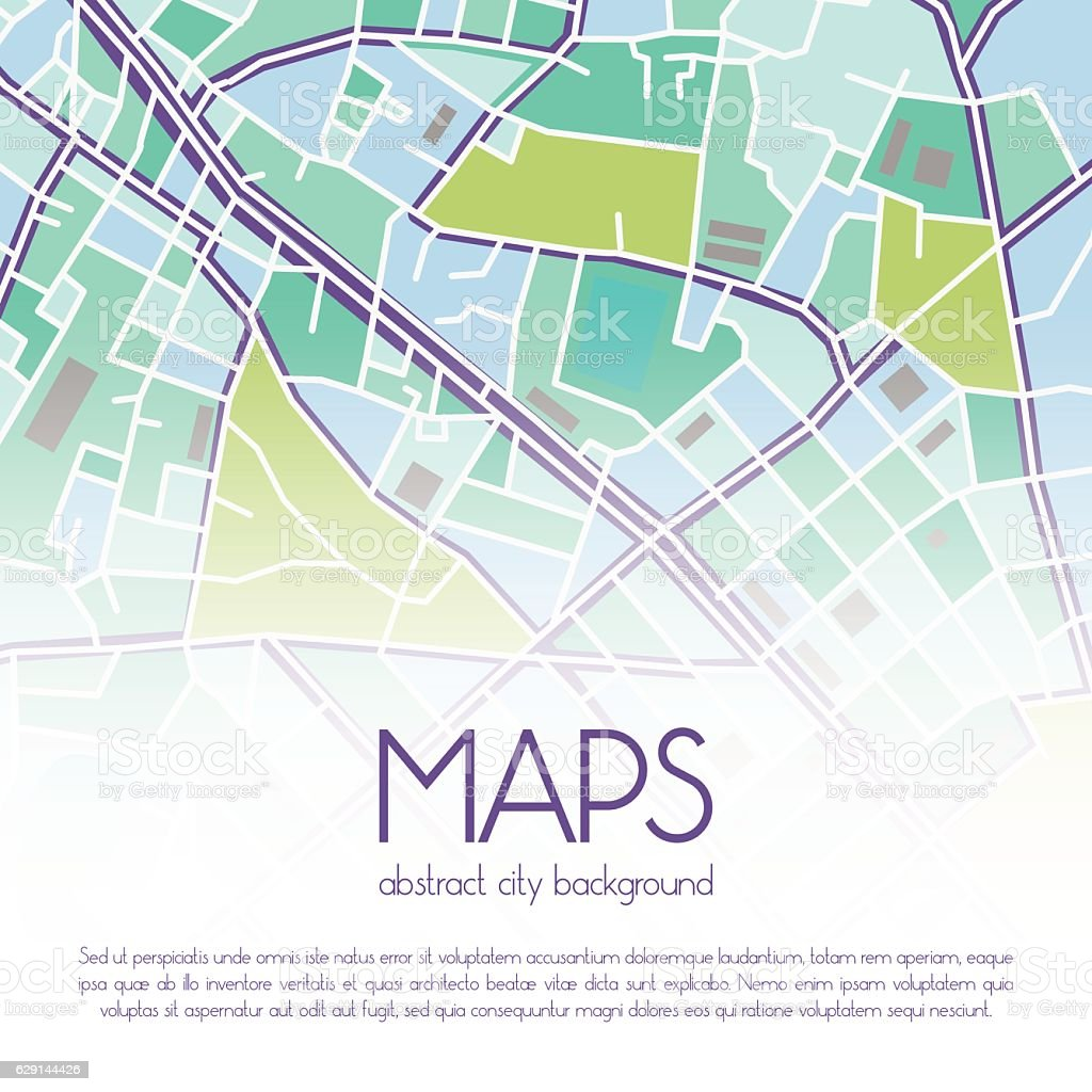 Vector city map background vector art illustration