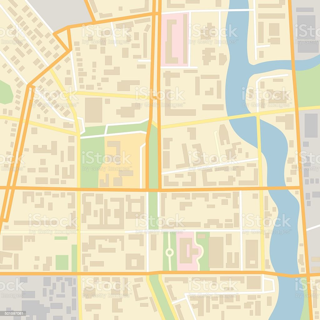 Vector city map vector art illustration