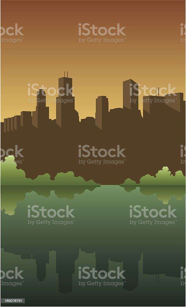 Vector City Skyline royalty-free stock vector art