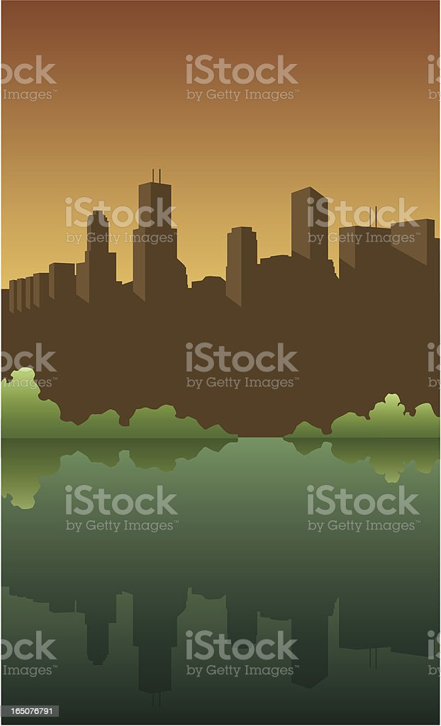 Vector City Skyline vector art illustration