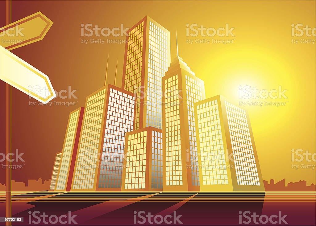 Vector city royalty-free stock vector art