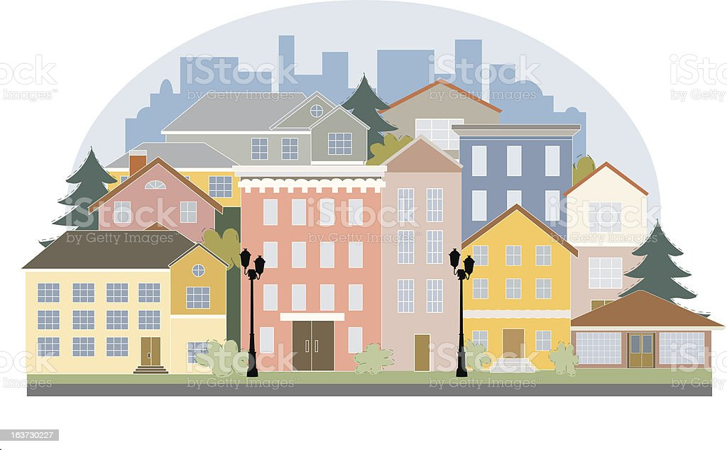 Vector city with building royalty-free stock vector art