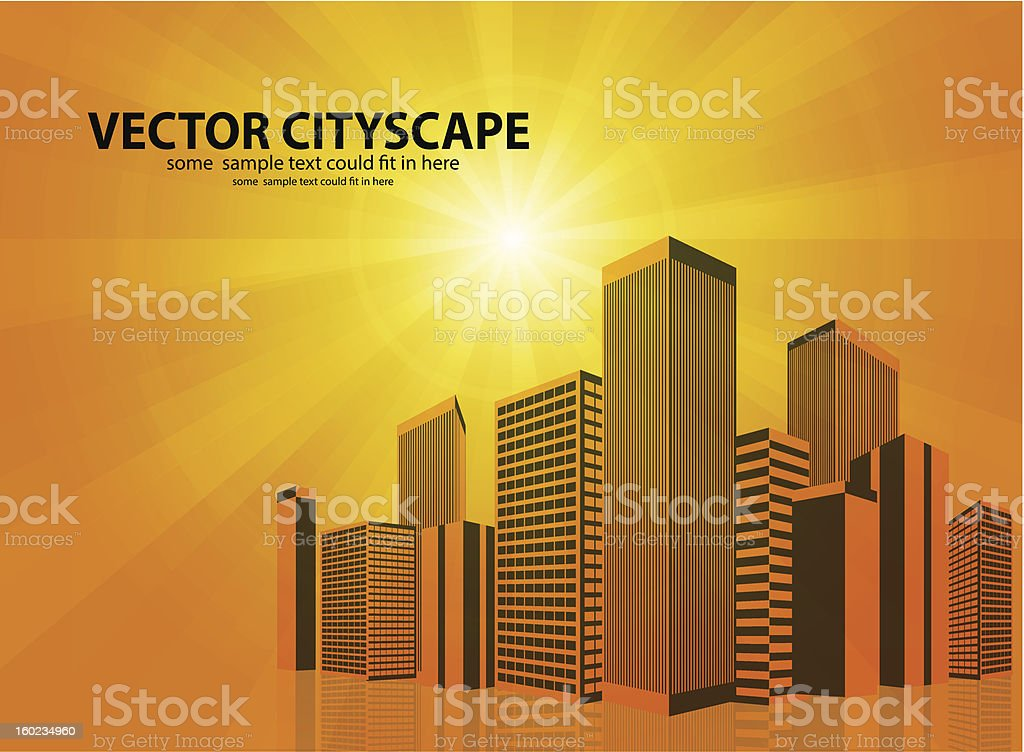 Vector cityscape background royalty-free stock vector art