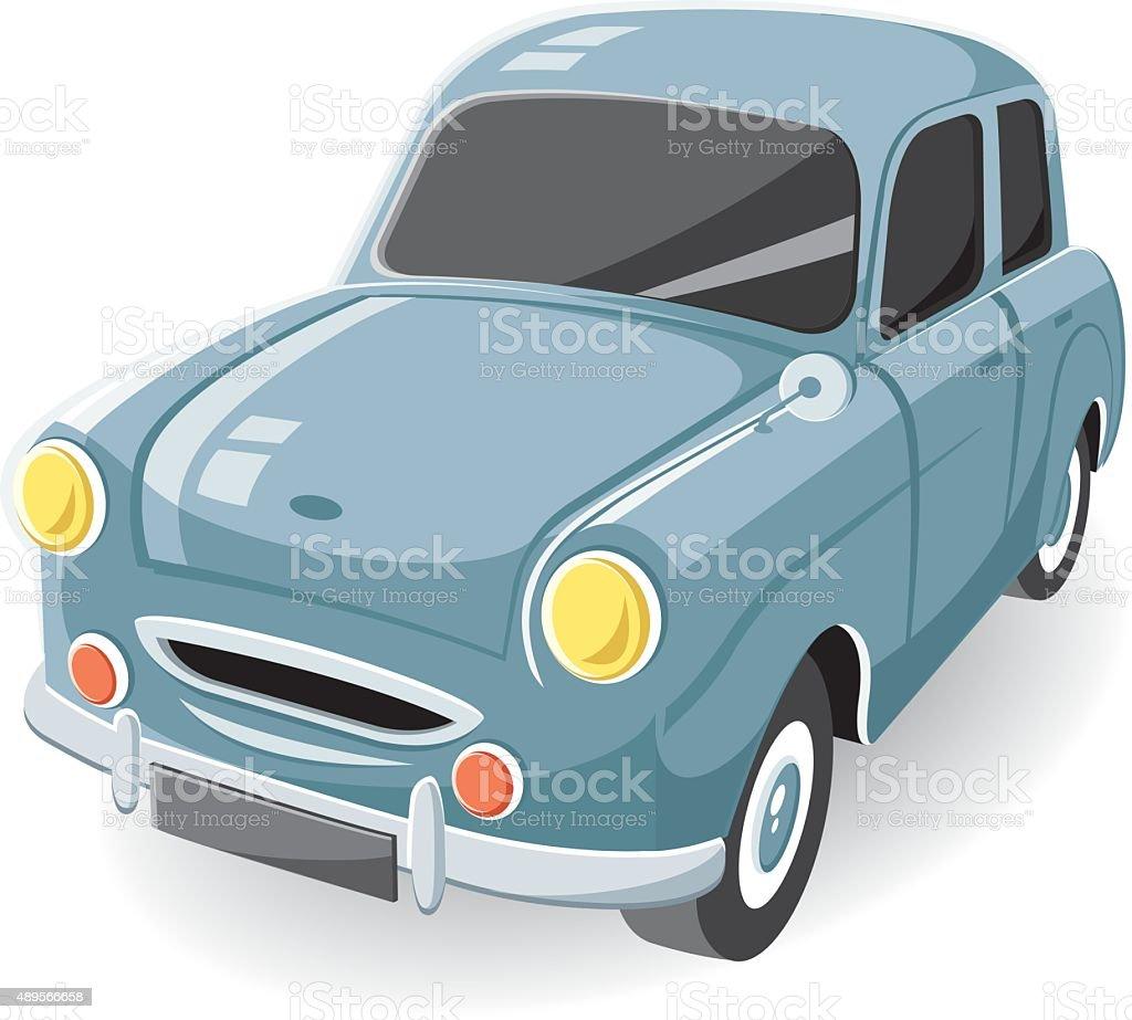 vector classic car vector art illustration