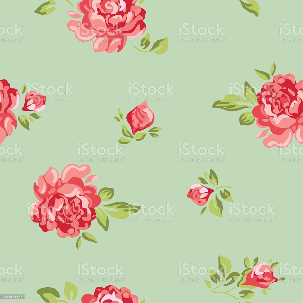 Vector Classic Vintage Inspired Seamless Floral Pattern Wallpaper ...