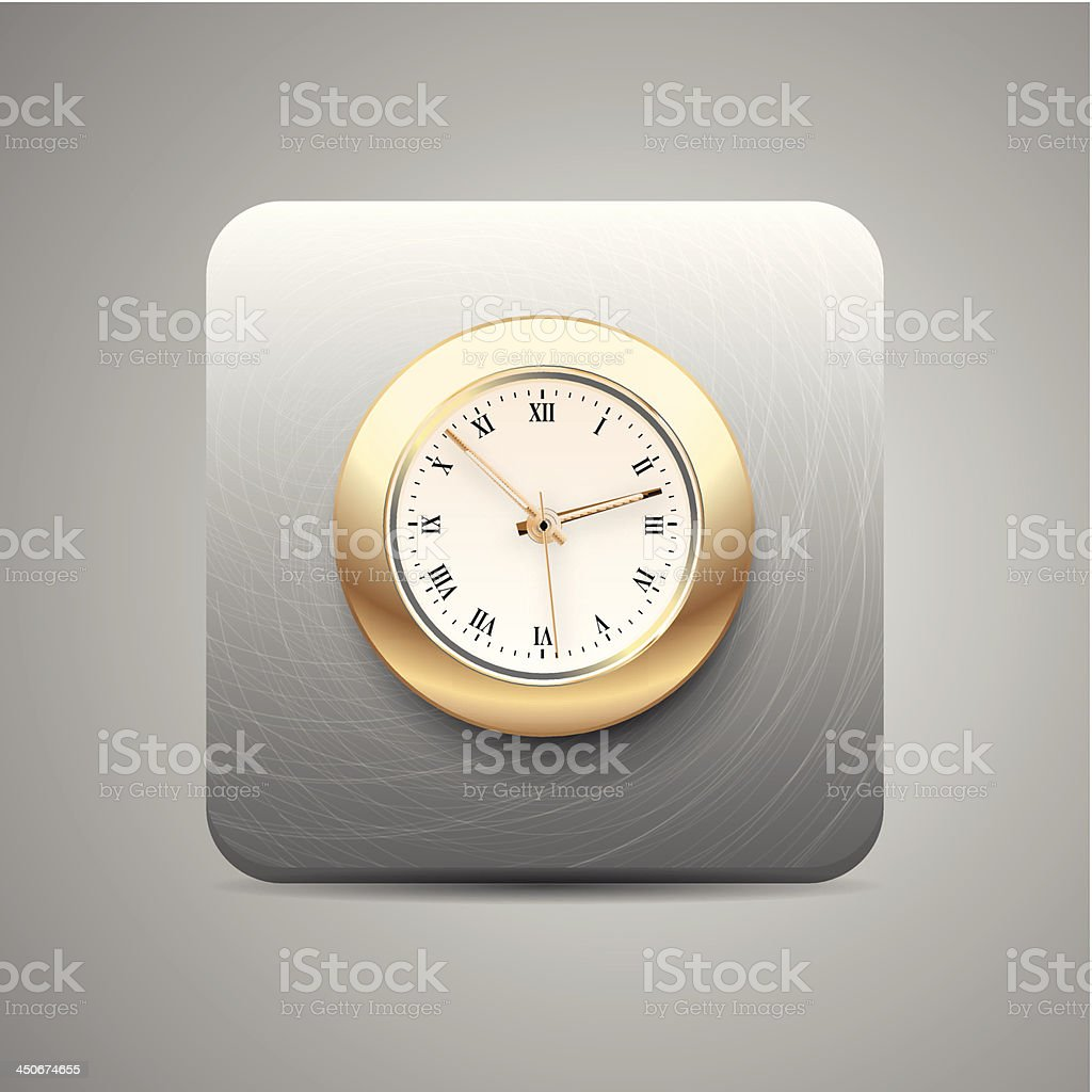 Vector clock application icon royalty-free stock vector art