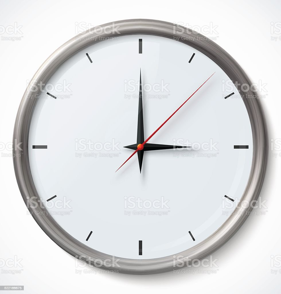 Vector Clock Icon vector art illustration