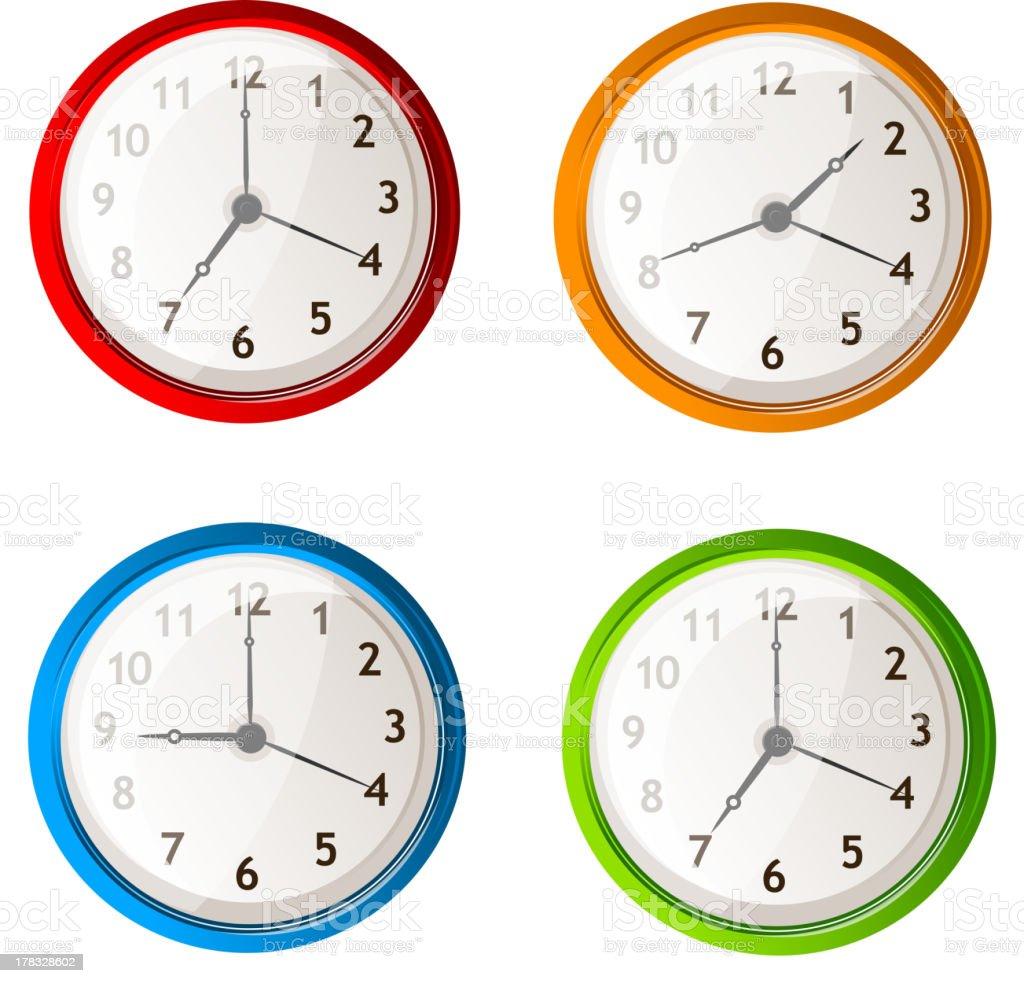 Vector clock set royalty-free stock vector art
