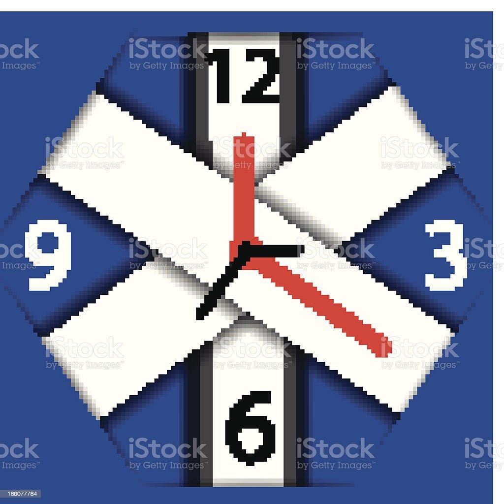 Vector clock royalty-free stock vector art