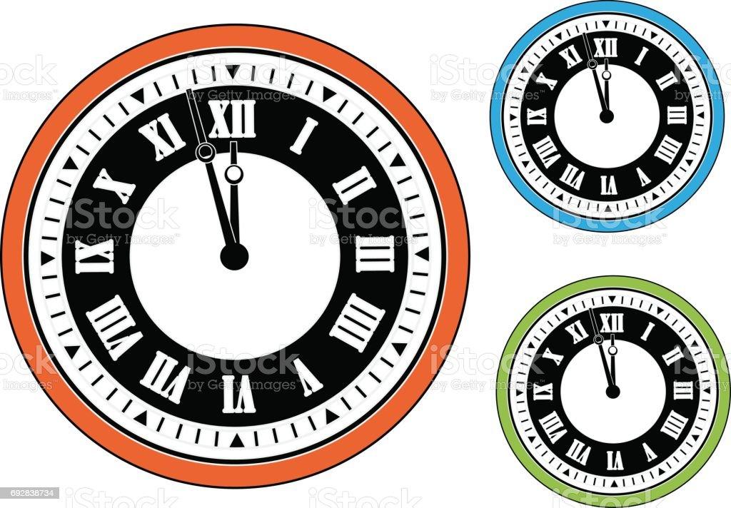 Vector clock vector art illustration