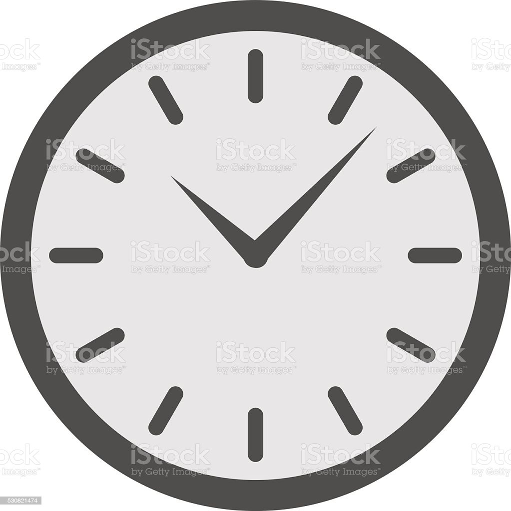 Vector clock watch isolated illustration vector art illustration