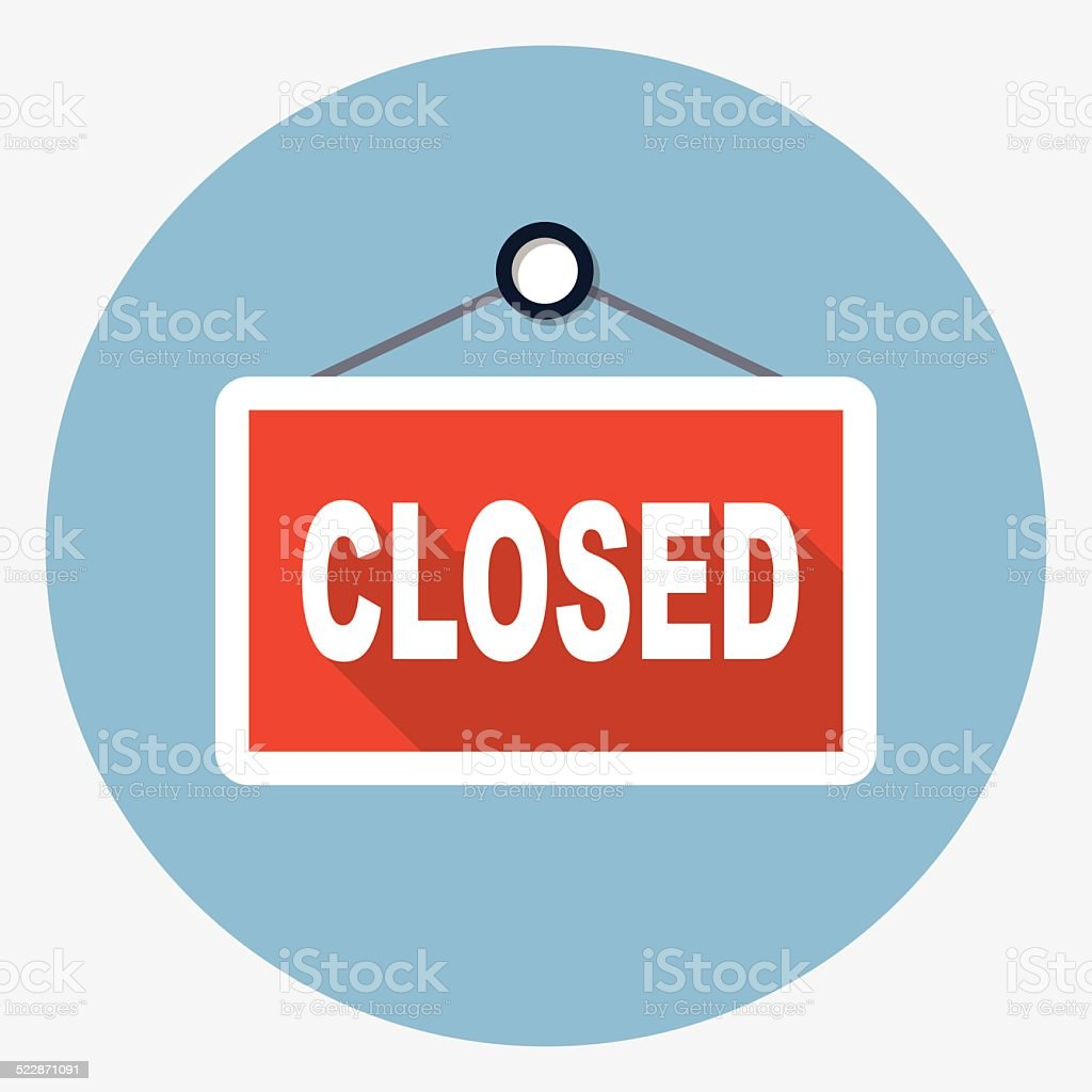 Vector closed sign vector art illustration