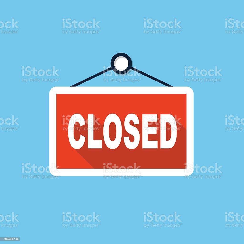 Vector closed store sign vector art illustration