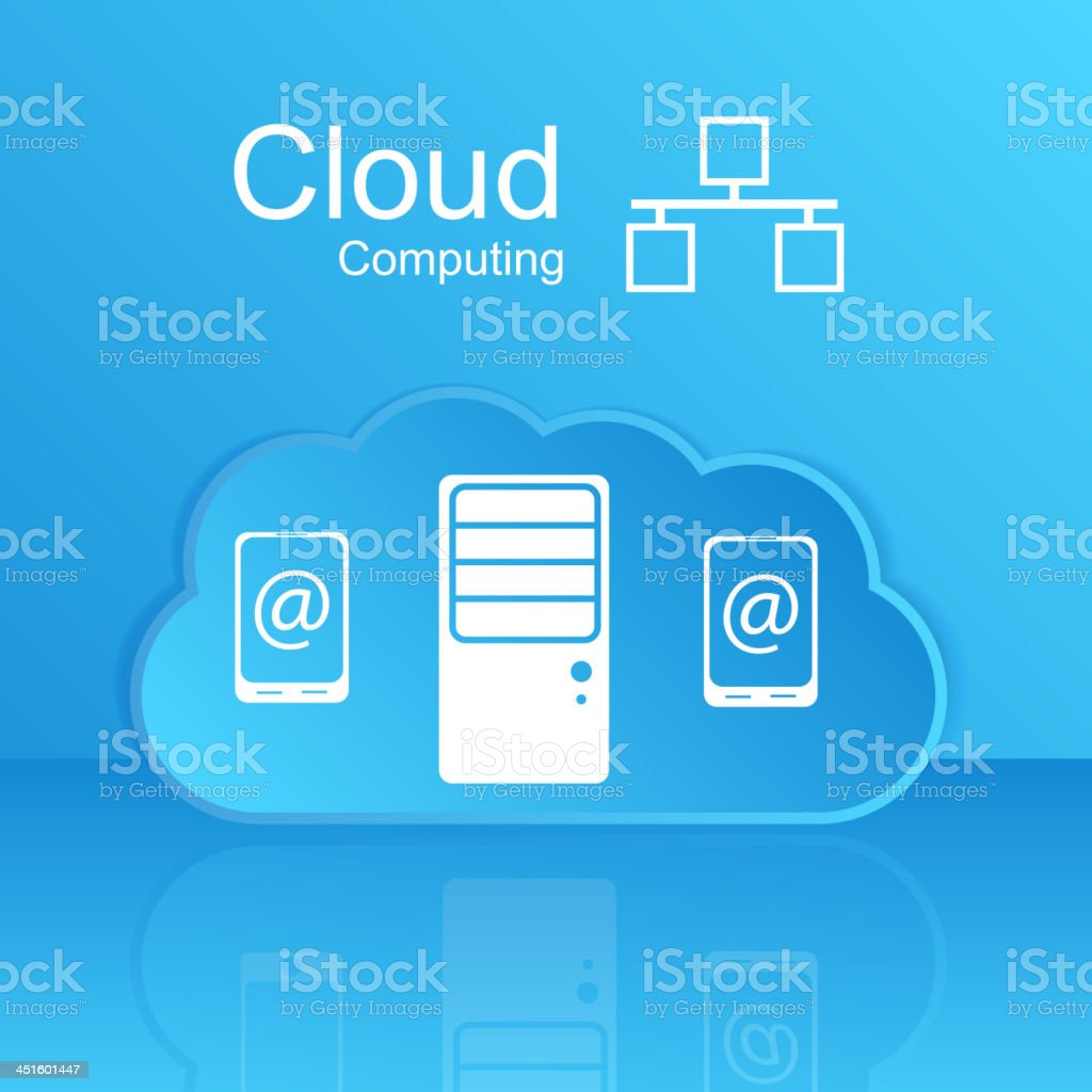 Vector cloud computing concept. Modern design template. royalty-free stock vector art