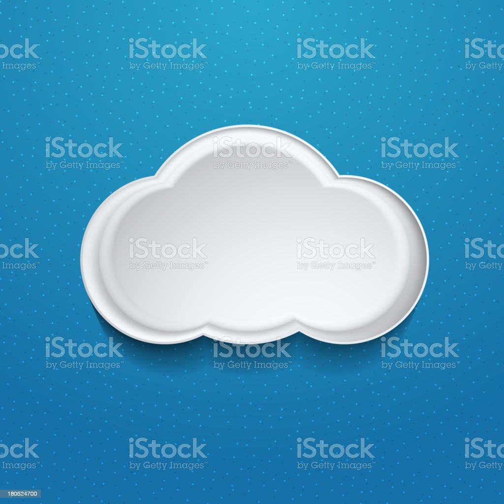 Vector cloud icon royalty-free stock vector art
