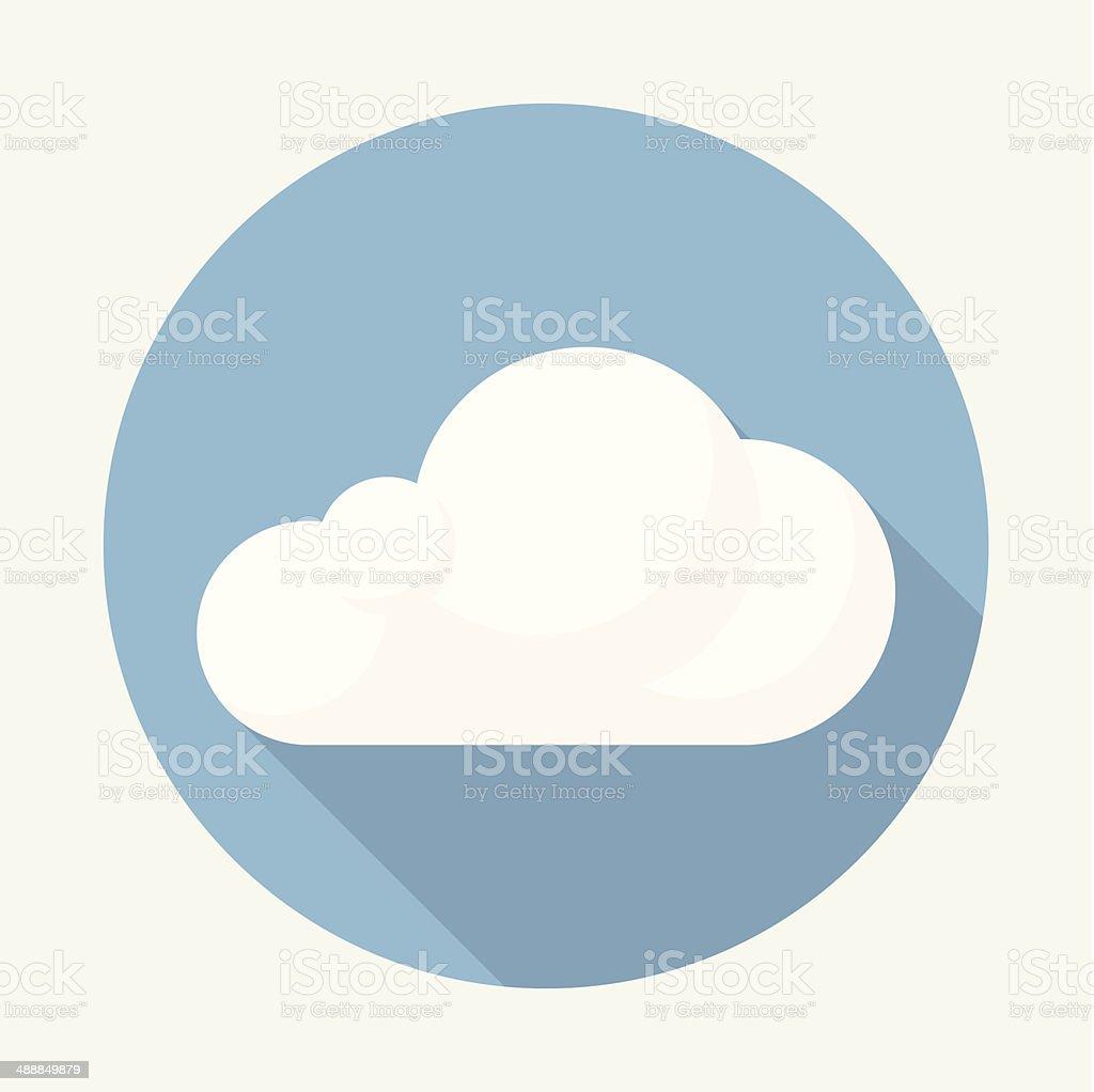 Vector cloud icon vector art illustration