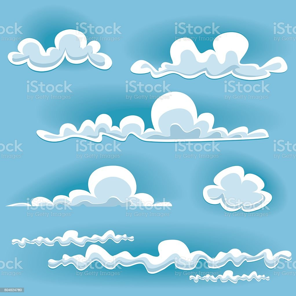 vector cloud set vector art illustration