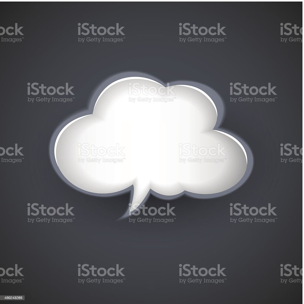 vector cloud template for text message royalty-free stock vector art