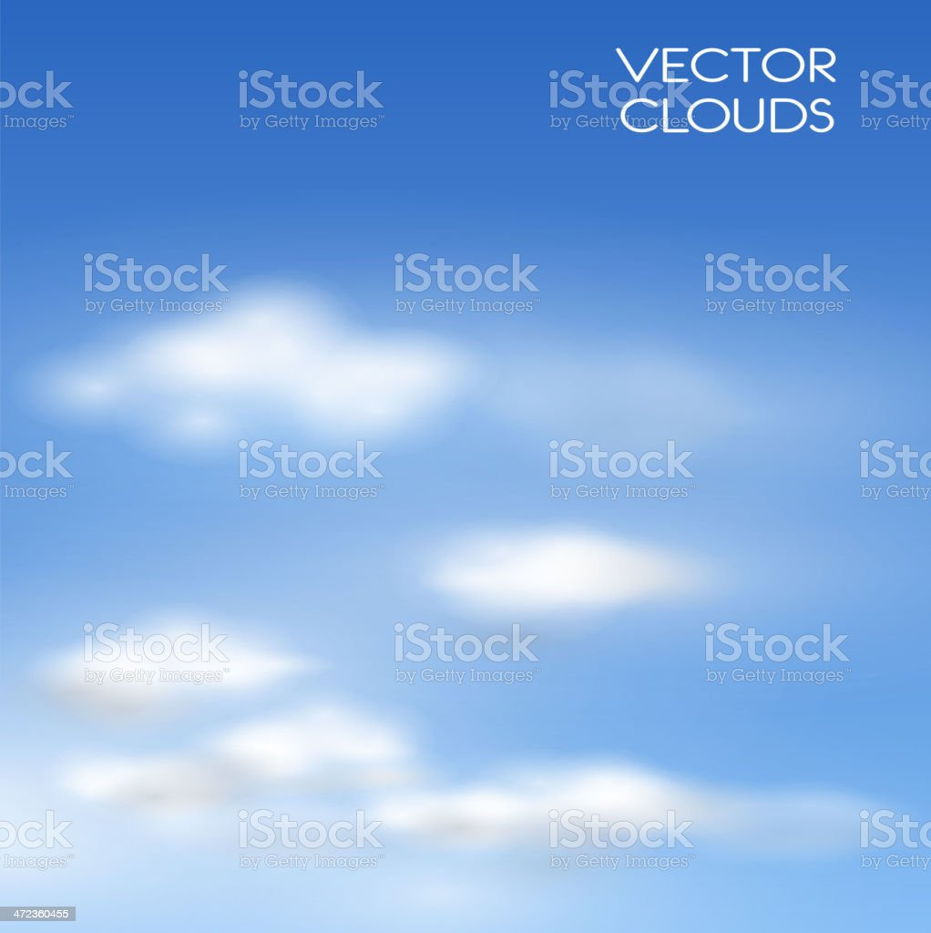 Vector clouds royalty-free stock vector art