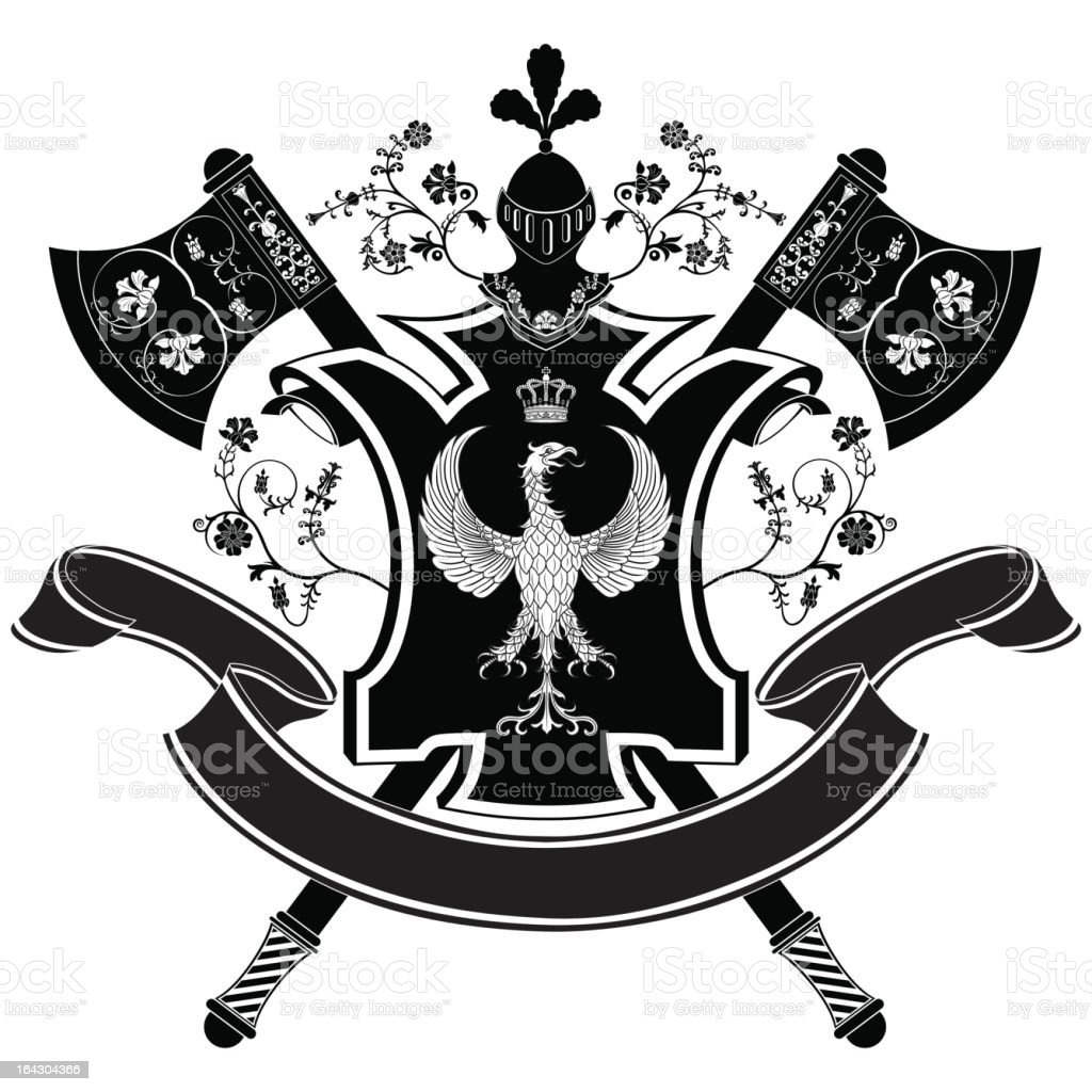 Vector coat of arms royalty-free stock vector art
