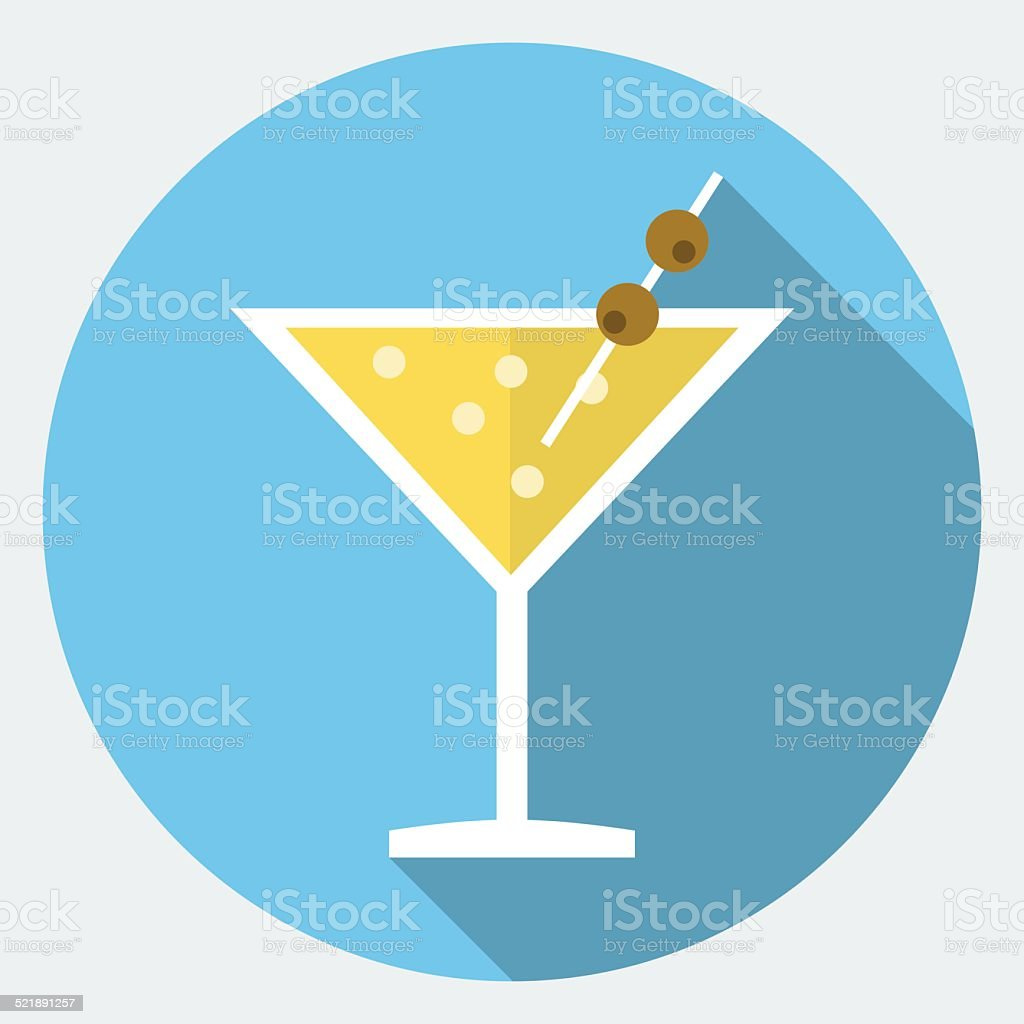 Vector cocktail icon vector art illustration