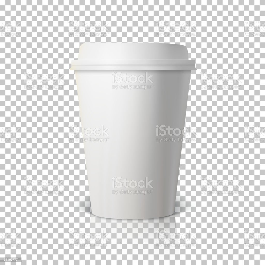 Vector Coffee Cup Isolated on Transparent PS Style Background. P vector art illustration