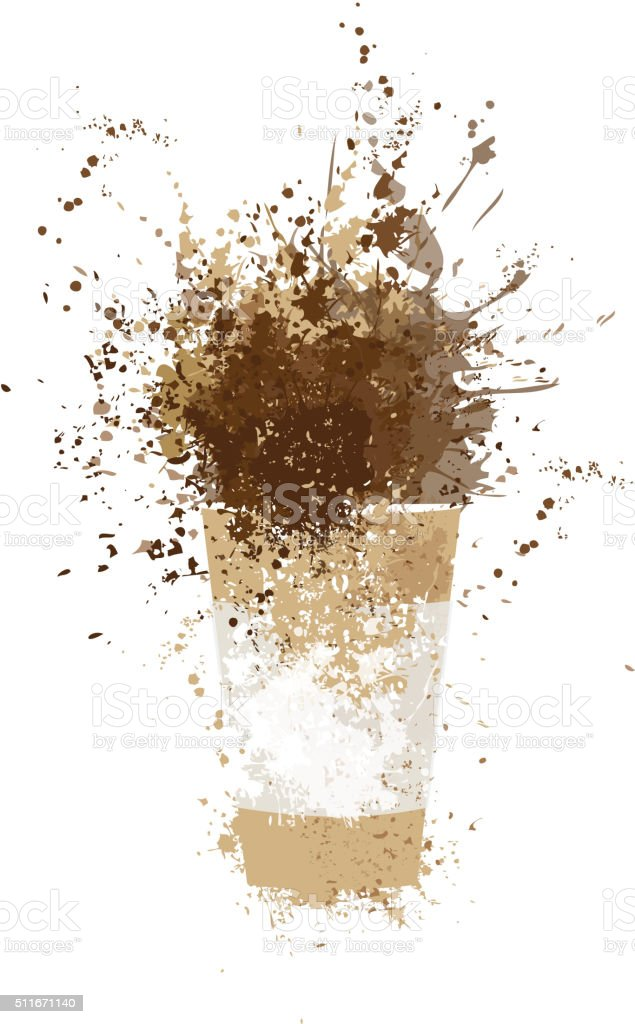Vector coffee cup. vector art illustration