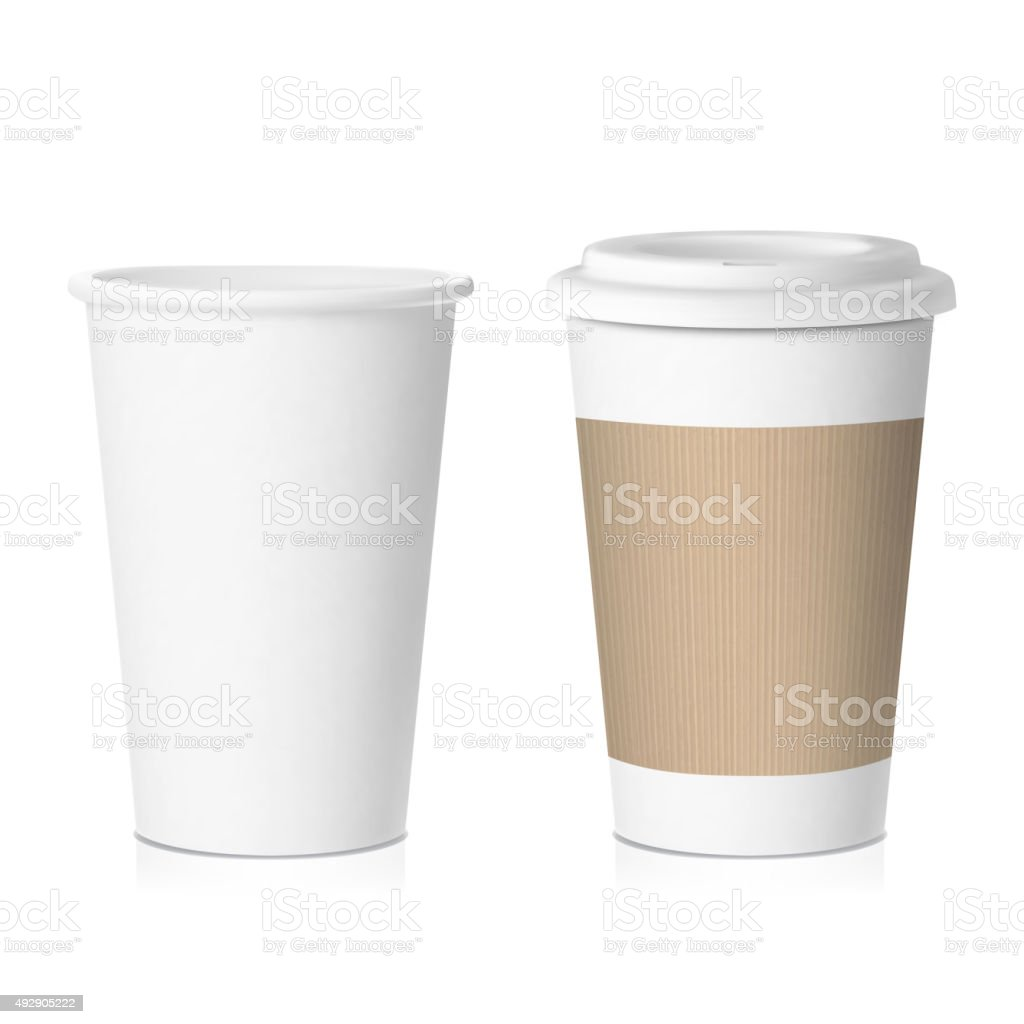 vector coffee paper cup vector art illustration