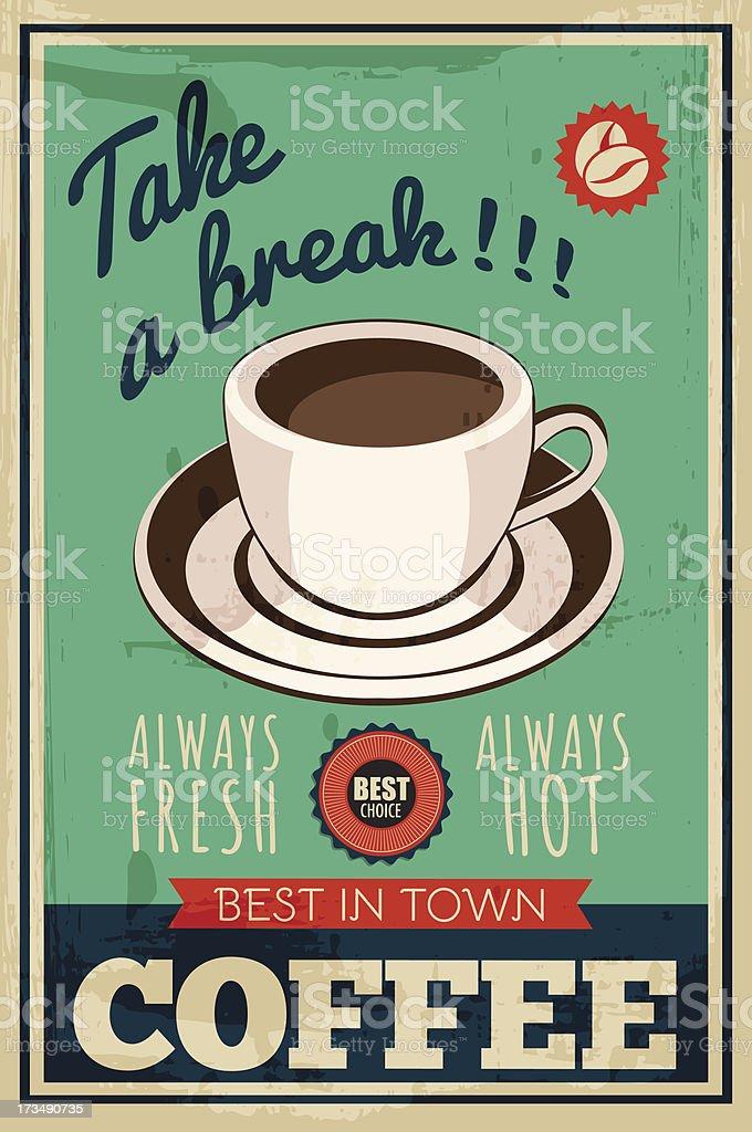 vector coffee poster vector art illustration
