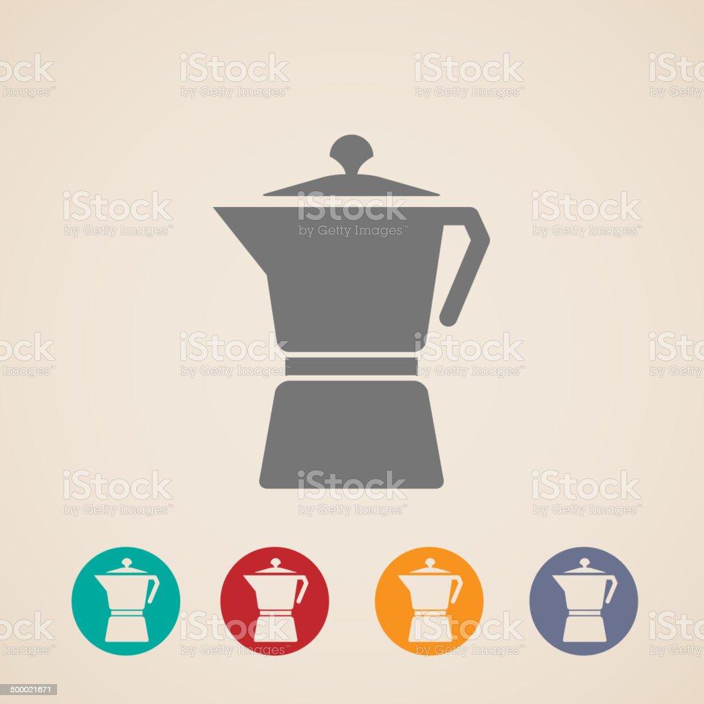vector coffee pot icons royalty-free stock vector art