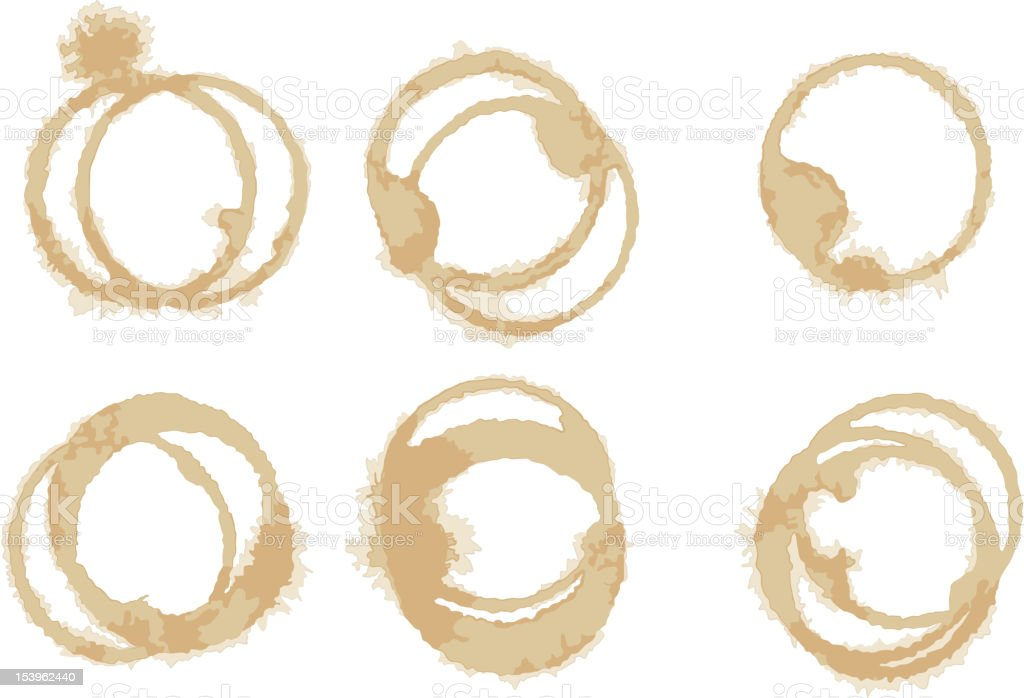 Vector Coffee Stain Collection royalty-free stock vector art