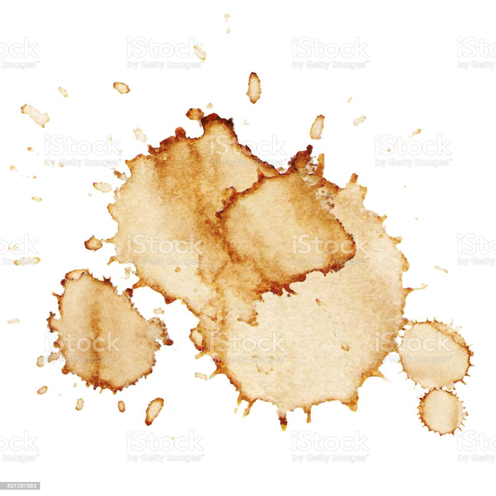 Vector Coffee Stains vector art illustration