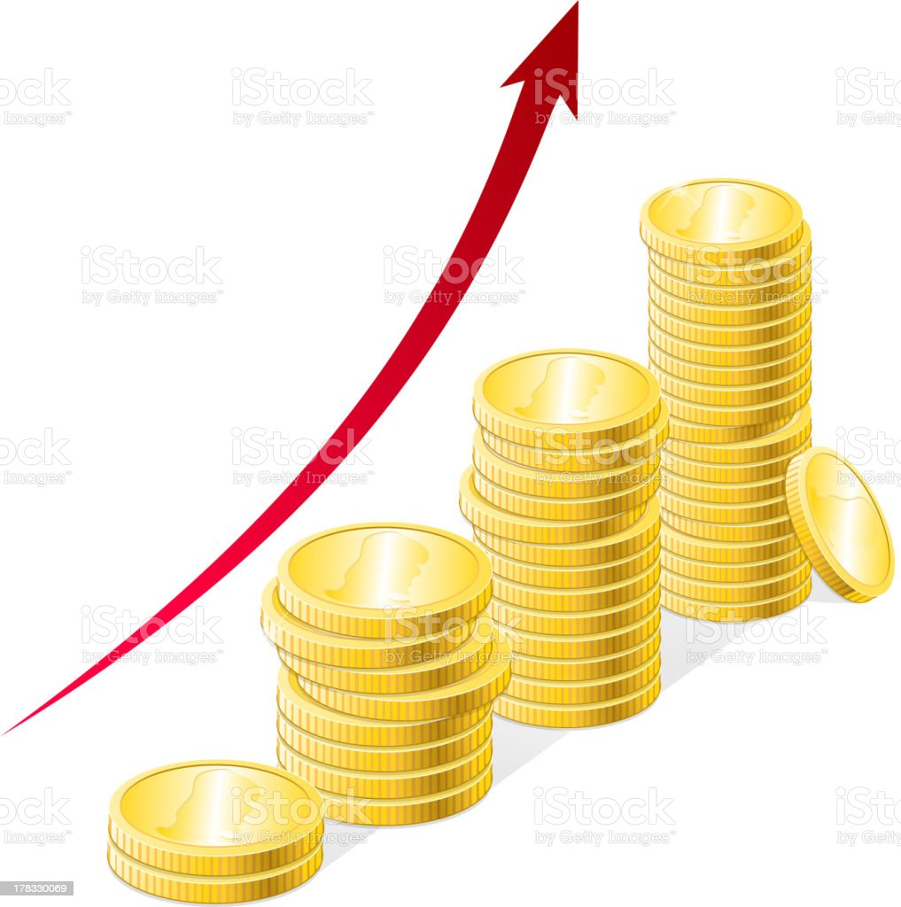 Vector coins stack royalty-free stock vector art