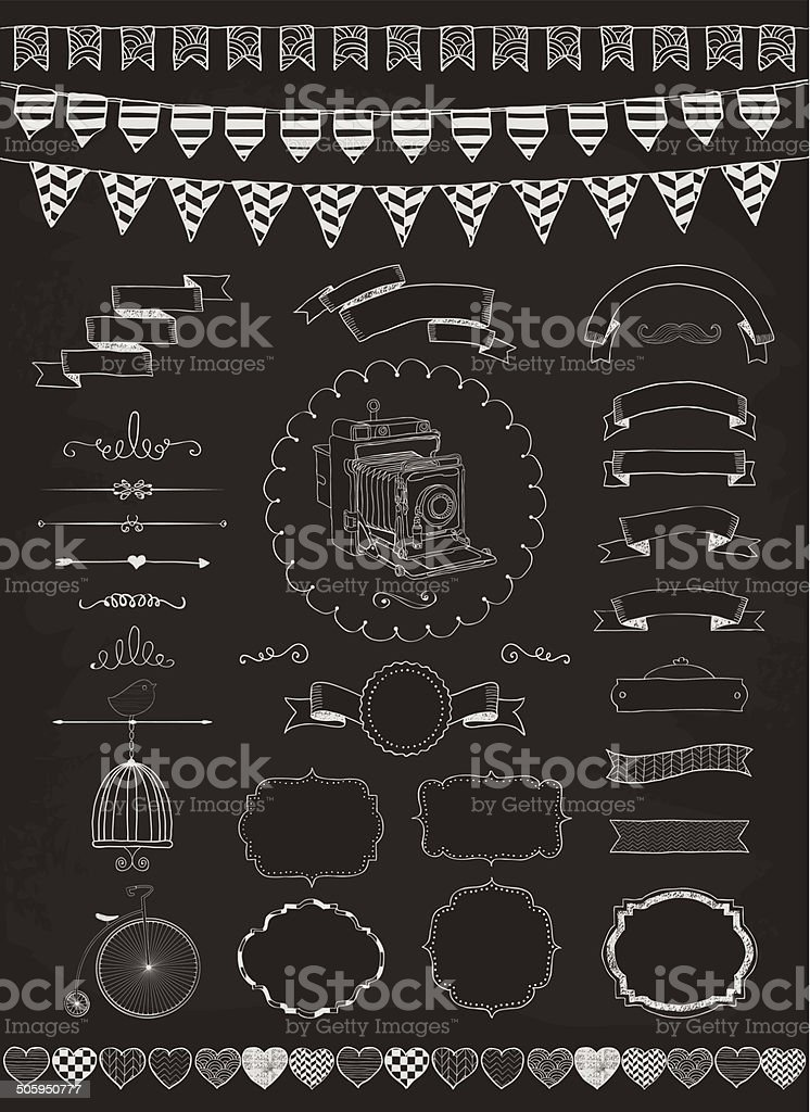 Vector Collection of  Banners, Ribbons and Frames vector art illustration