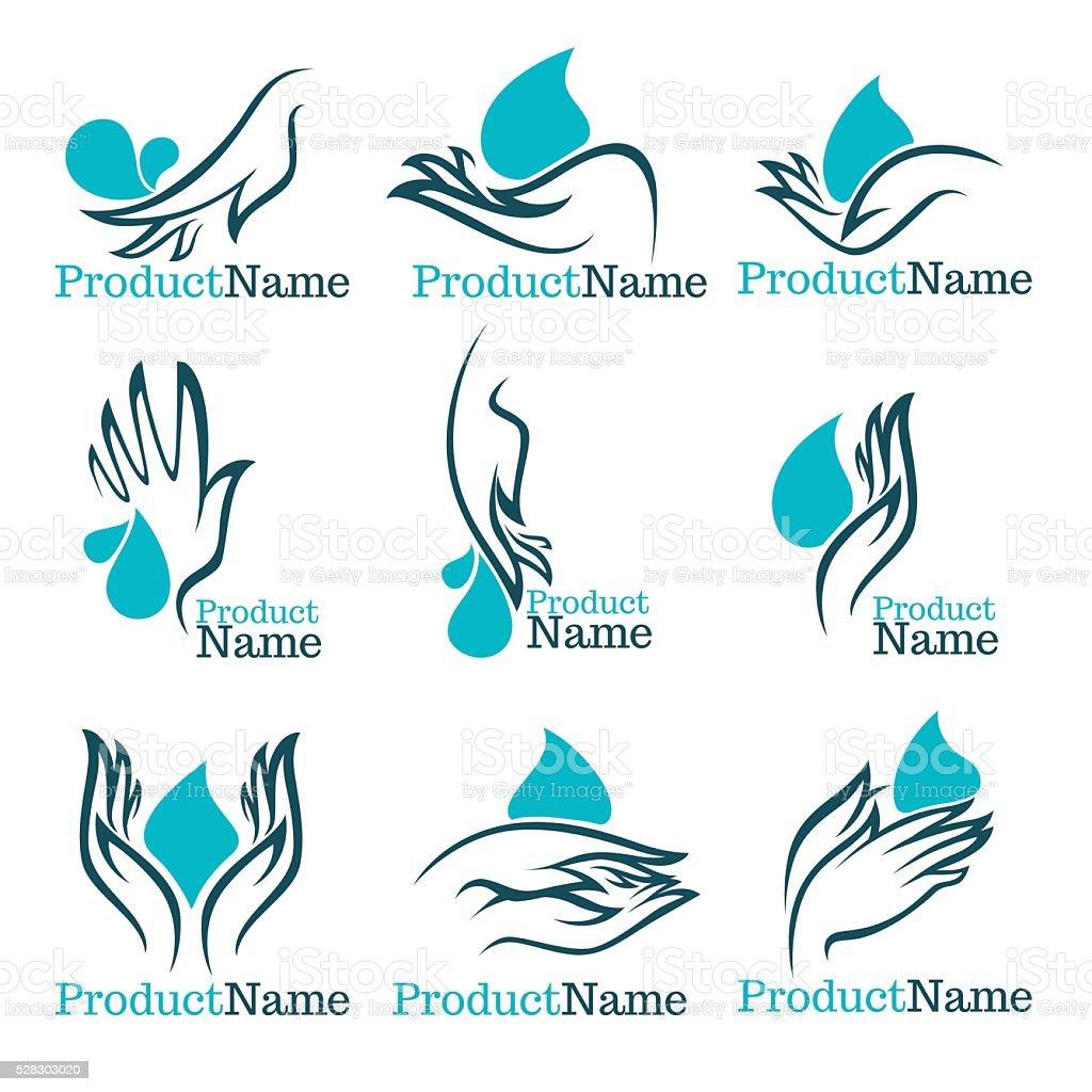 vector collection of clean women hands vector art illustration
