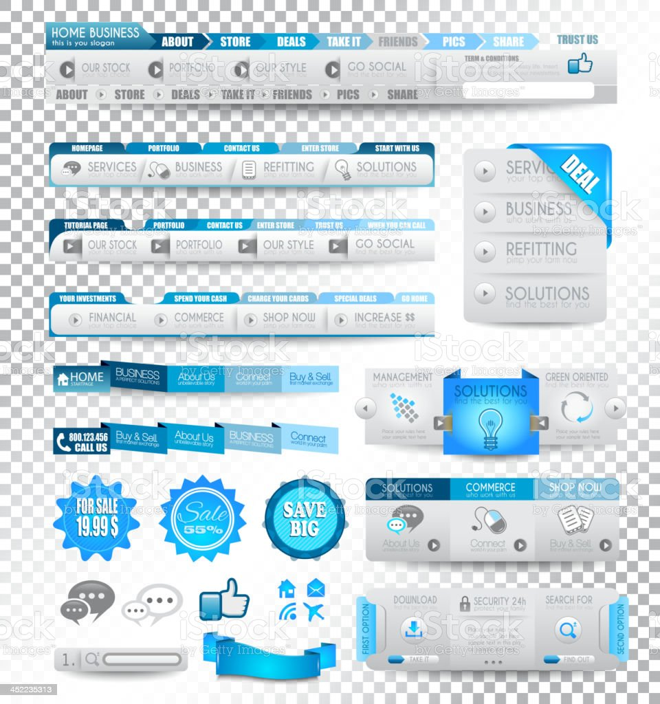 Vector collection of web elements royalty-free stock vector art