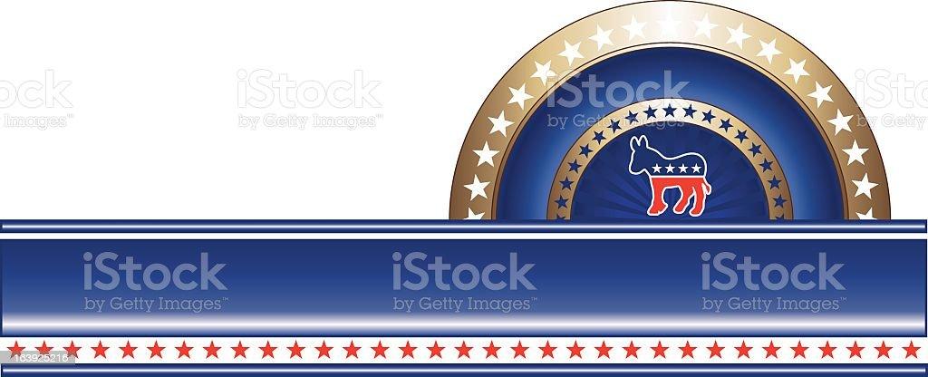 Vector Collection Political Label Democrat royalty-free stock vector art