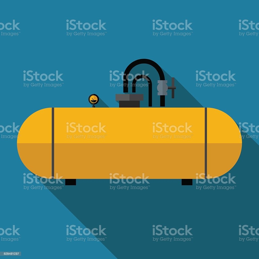 Vector color flat cistern icon vector art illustration