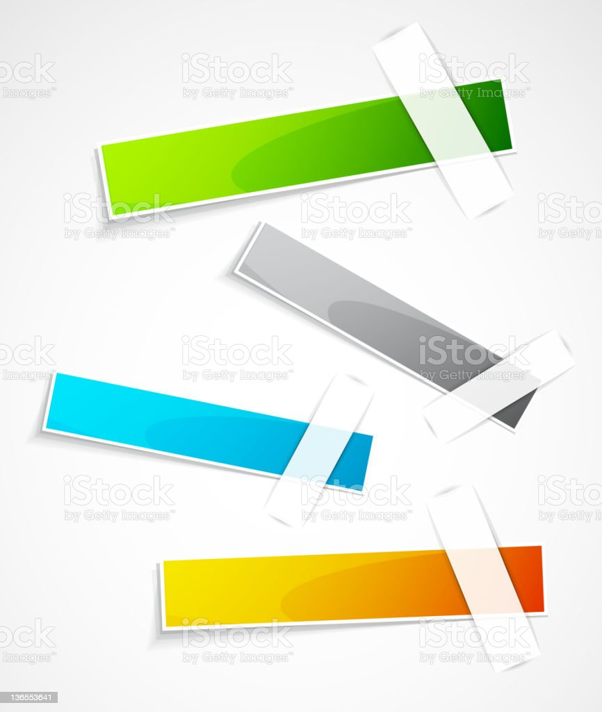 Vector color glossy labels royalty-free stock vector art