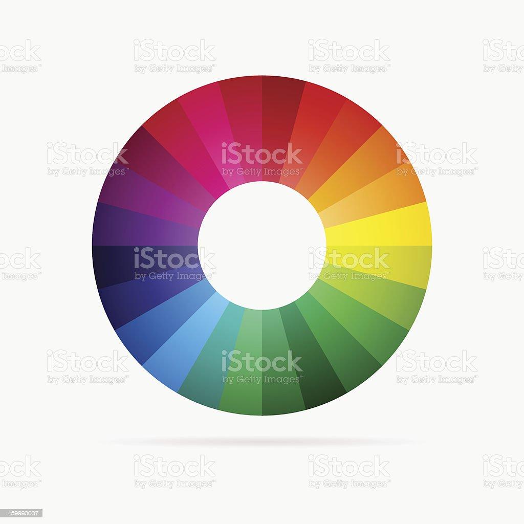 Vector color spectrum vector art illustration