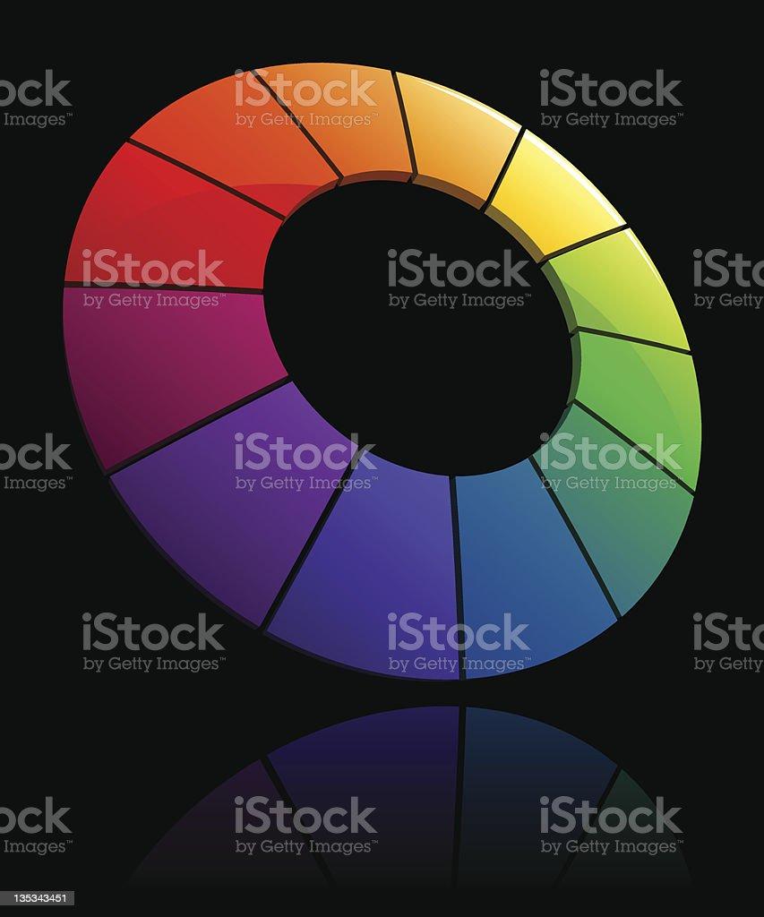 Vector Color Wheel 3D royalty-free stock vector art