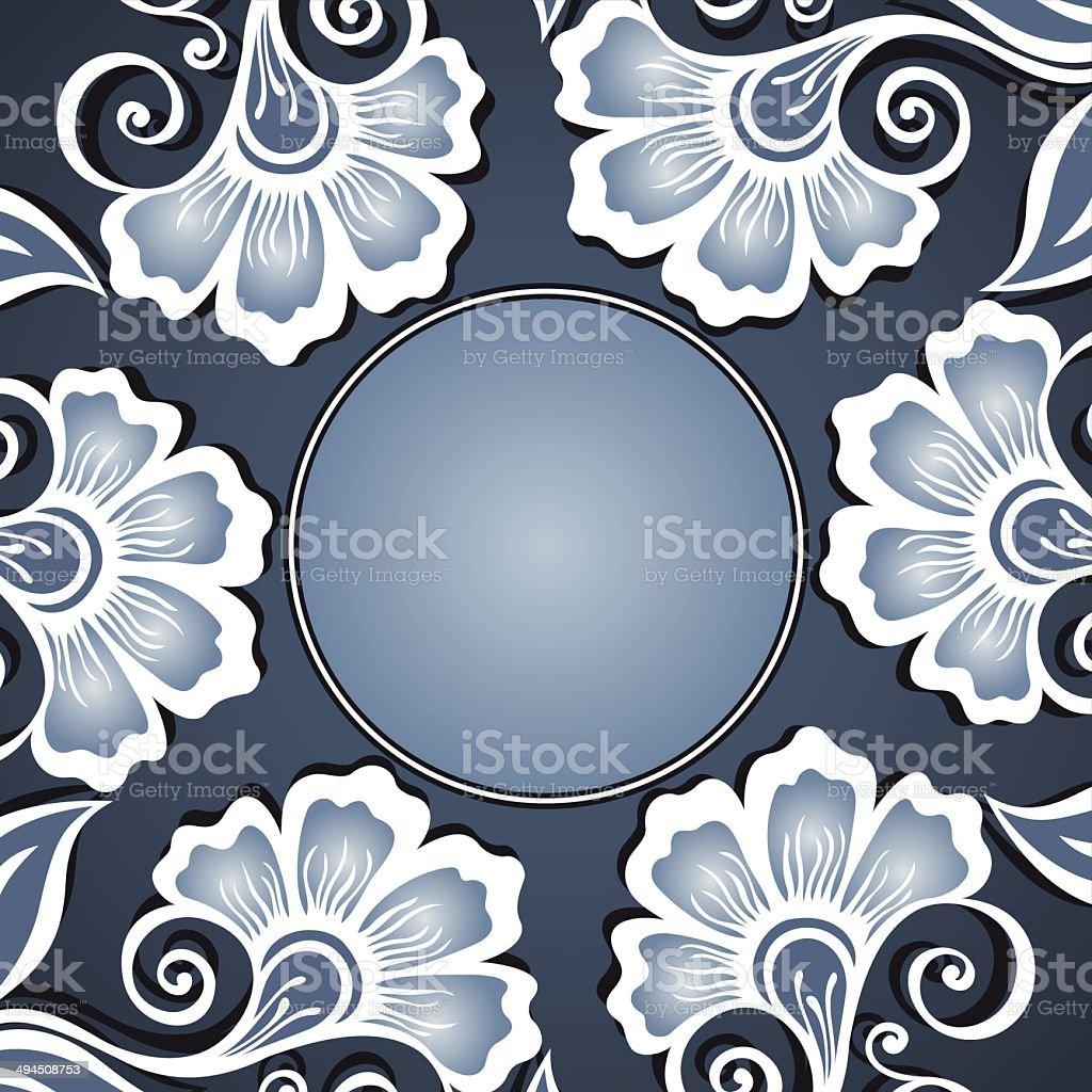 Vector Colored Floral Background. Hand Drawn Texture royalty-free stock vector art