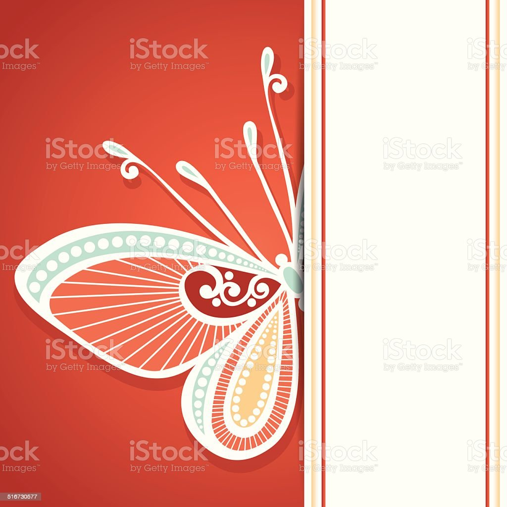 Vector Colored Floral Background vector art illustration