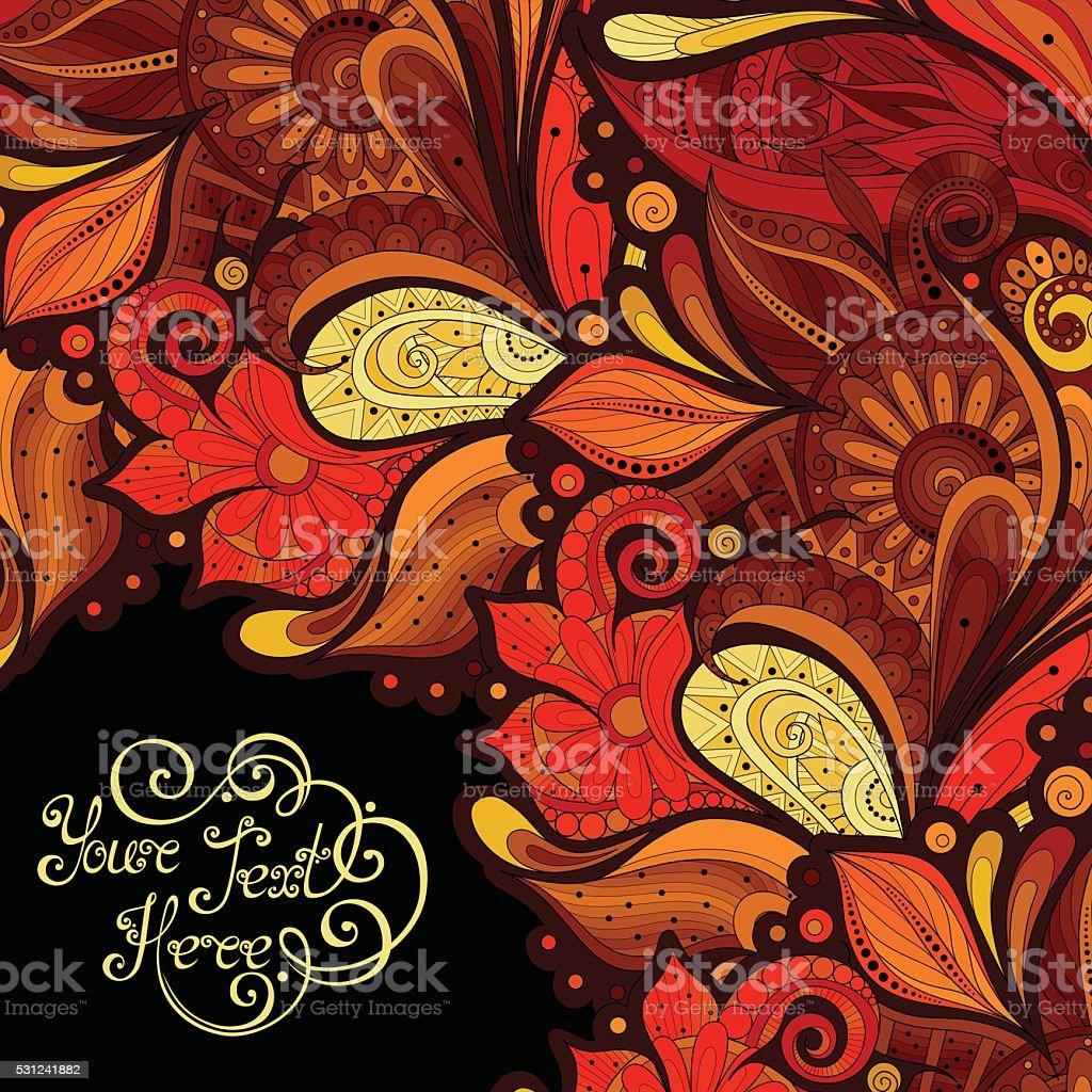 Vector Colored Floral Background vector art illustration
